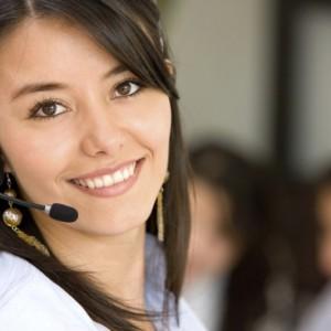Téléphoniste attend votre appel